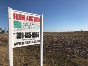 Farmland Auction Sign