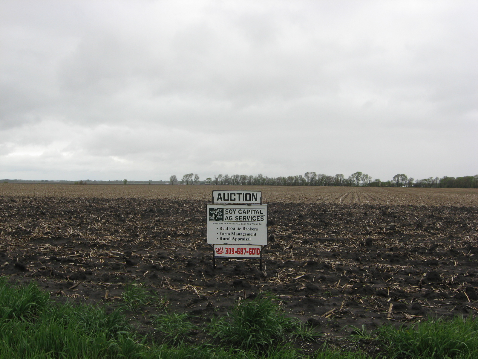 Picture of for sale sign on Alber-Mirando Farm