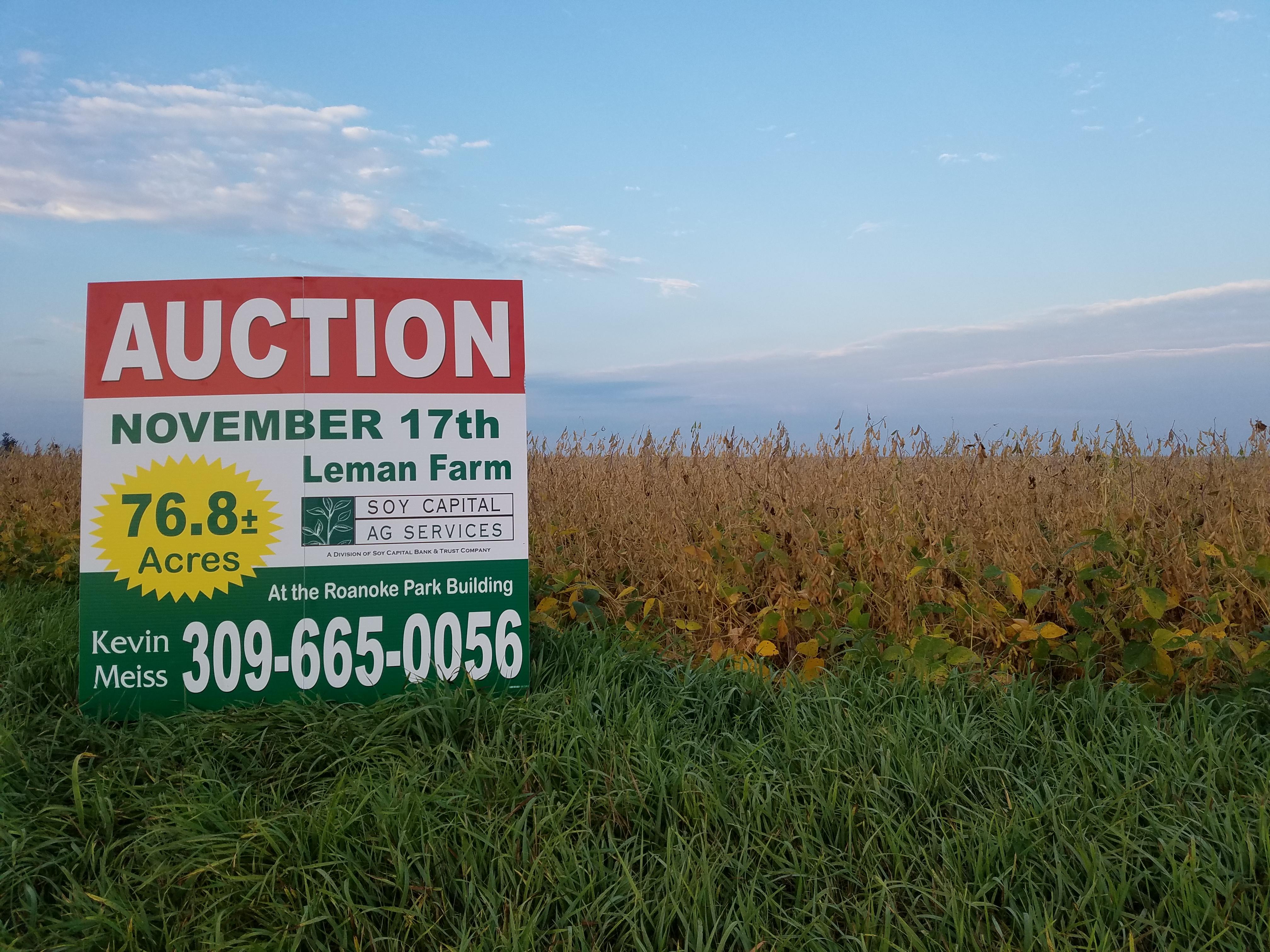 Farm Picture w Auction Sign