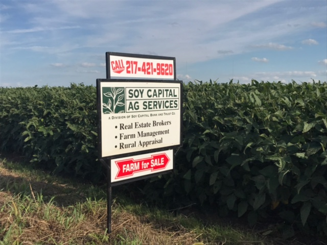 Picture of for sale sign on Gintz Farm 59.