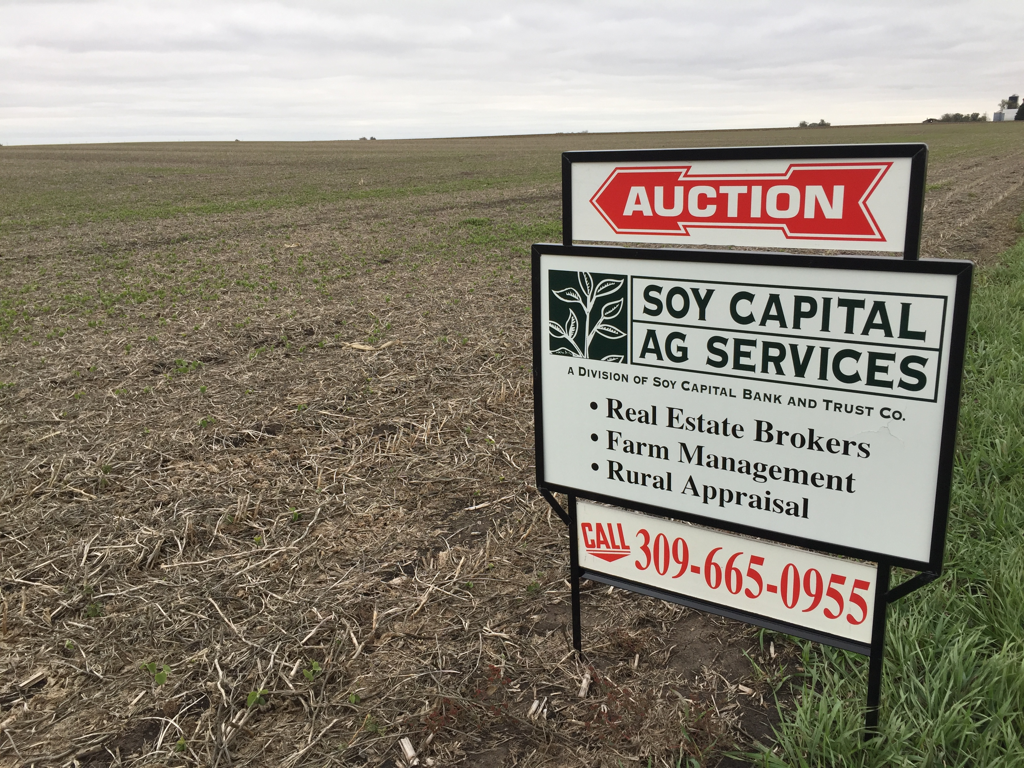 Picture of for sale sign on Giannini Farm